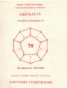 Abstracts Amorphous semiconductors 78 / Аморфные полупроводники 78